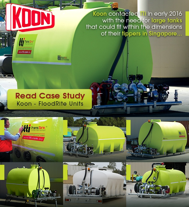 Case Studies - Floodrite Water cartage tank for Koon in Singapore by TTi