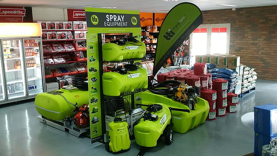 tti lad or local active dealers with the new tti products on display stand