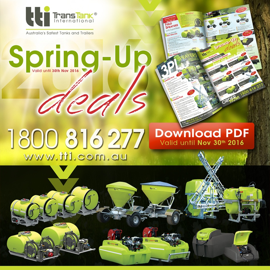 Spring Deals 2016 - There Has Never Been a Better Time to Invest in Some New Equipment! by TTi
